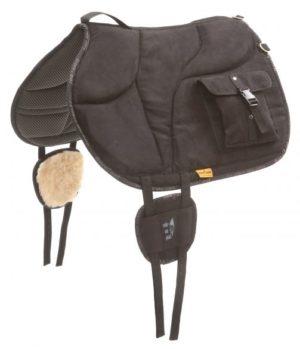 Barefoot Ride-On-Pad mit  Taschen - Ride-On-Pad mit V-Gurtung und großen Taschen in schwarz
