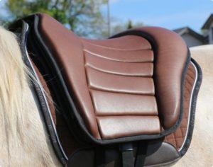 Grandeur Reit Pad Leder - Bequemes Reitpad mit Leder-Oberseite